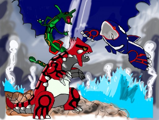 Pokemon Groudon And Ky...