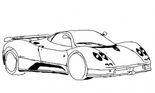 pagani zonda r car coloring pictures coloring pages
