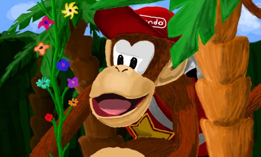 Diddy Kong Jungle by loboreeves