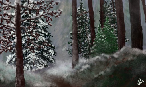 Winter Woods by libgal