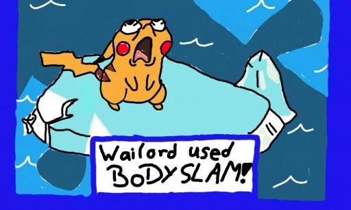 Wailord Used Body Slam! Wailord Used Body Slam
