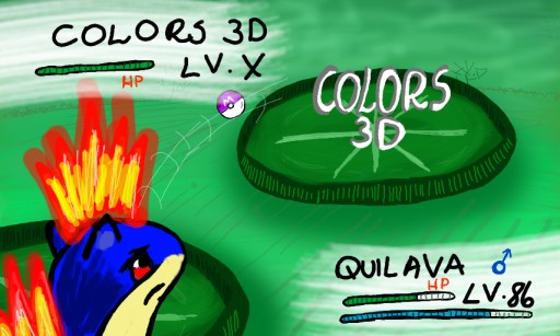 Quilava VS. Colors 3D by Yakusa