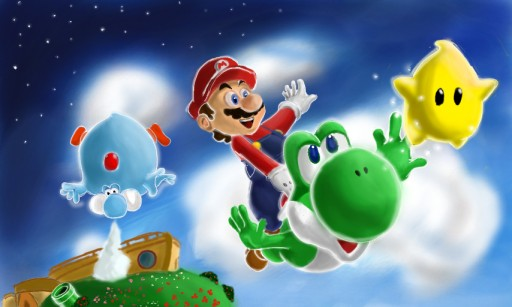 Mario Galaxy by saskashi