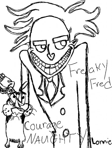 Freaky Fred Being Naughty To Courage by StylinLilpro
