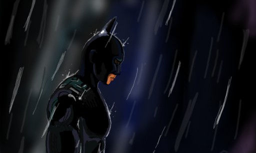 Batman in Rain by brysew