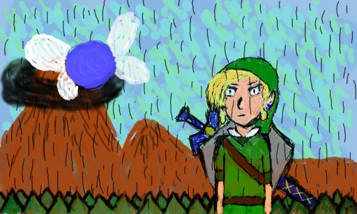 Link at Death Mountain. by JackeyRamone