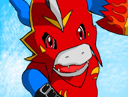 Flamedramon by Pyro Da...