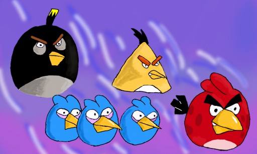 Angry birds by Miss Aurore