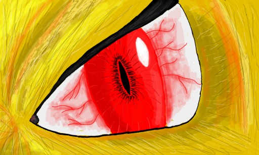 Oeil rouge by Miss Aurore