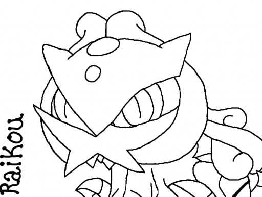 raikou coloring pages - photo#22