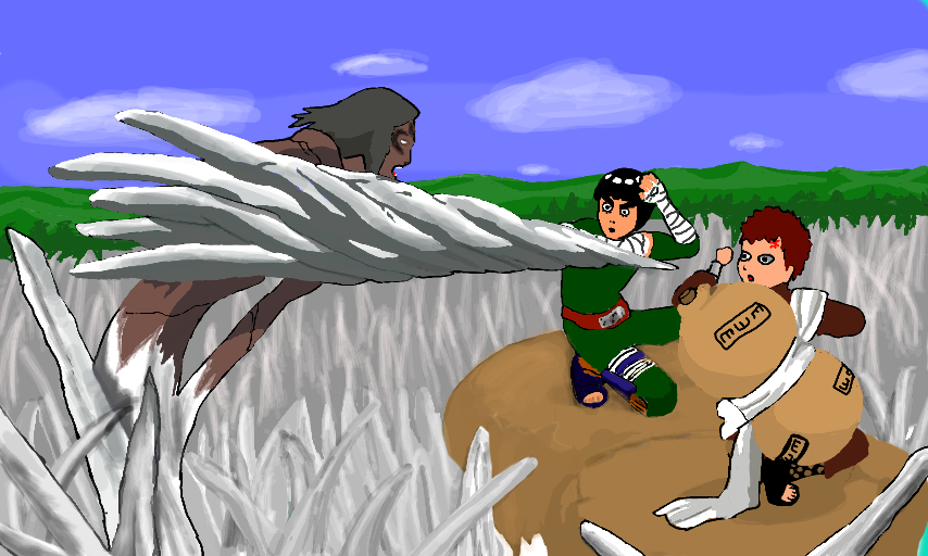 Rock Lee/Gaara vs Kimimaro Gaara And Rock Lee Vs Kimimaro