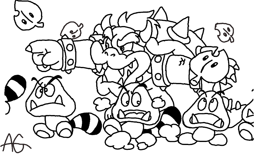 Mario 3d land coloring page 2 for Nintendo land coloring pages