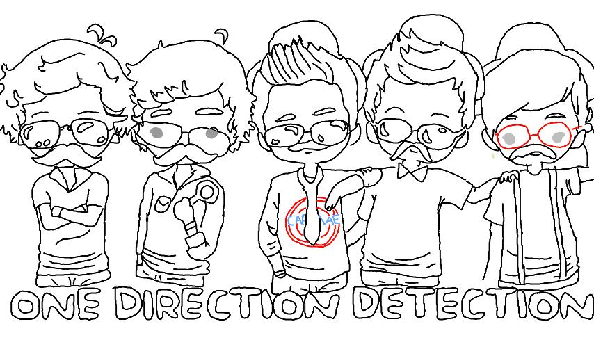 One direction dibujos para colorear caricatura - Imagui