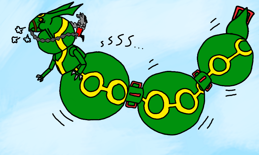 Colors Live Inflated Rayquaza By Drakenrox