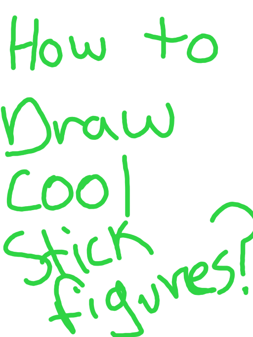 how to draw cool stick figures