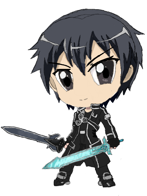 how to draw anime kirito sword