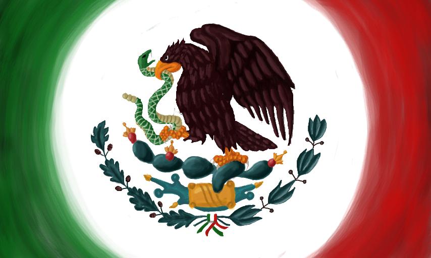 Colors Live Escudo de la bandera de Mexico by Silver Beatle