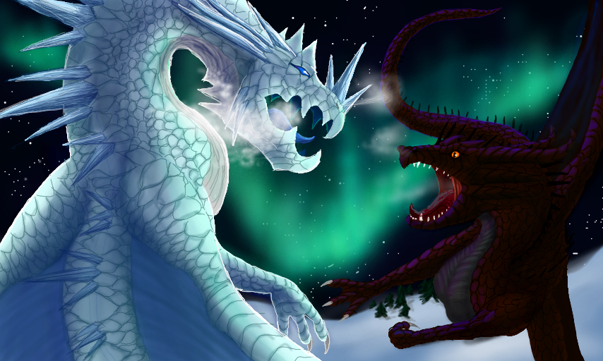 images of fire dragons vs ice dragons spacehero