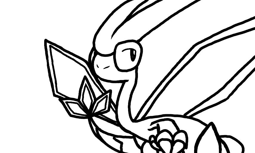 Flygon base line art for Flygon coloring pages