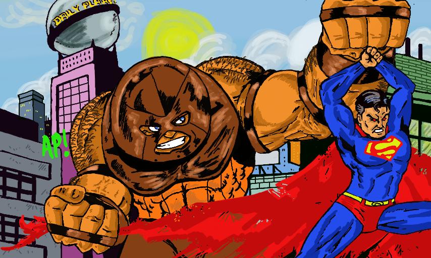 Red Hulk Vs Trion Juggernaut: Juggernaut Vs Superman