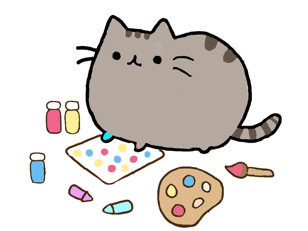 Картинки няшных котиков для срисовки