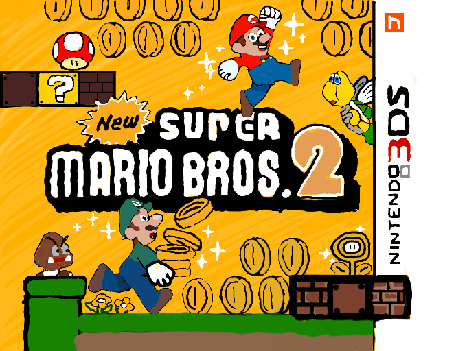 Colors Live New Super Mario Bros 2 Box Art By Alexis 2