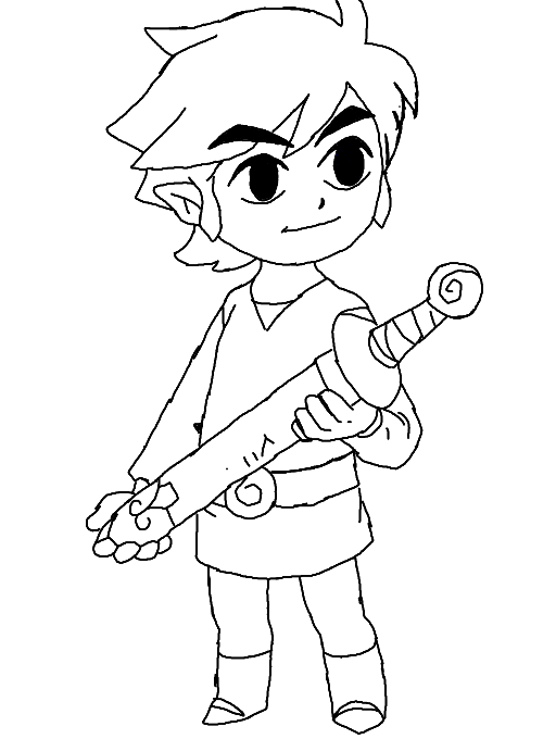 Colors Live Toon Link Coloring Page By Hylian Green