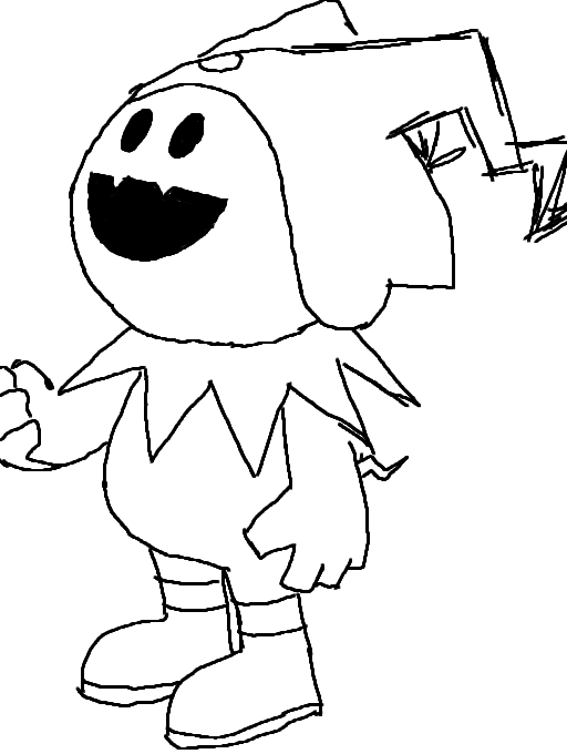 Jack frost coloring page