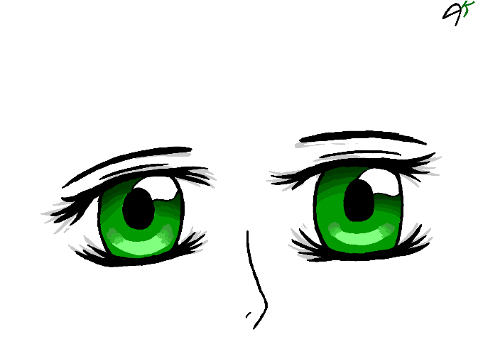Colors Live Green Anime Eyes By Akio