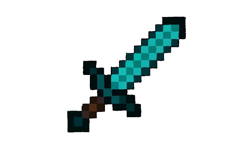Colors! Live - Minecraft diamond sword by Gecko