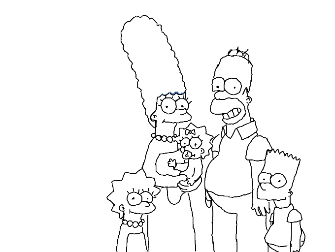 Colors Live Simpsons Outline By Jam123
