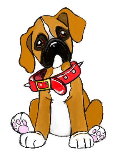 Cute Cartoon Bulldog