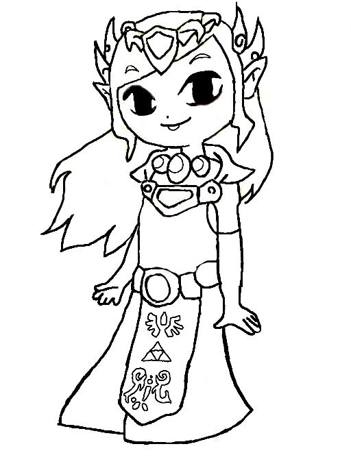Peach Kleurplaat Colors Live Zelda Coloring Page By Zeldafan121
