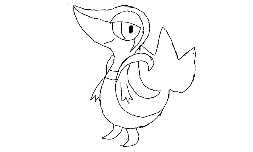 Snivy coloring page for Snivy coloring pages