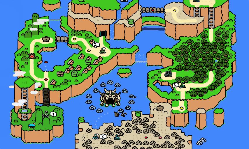 Super Mario World World Map