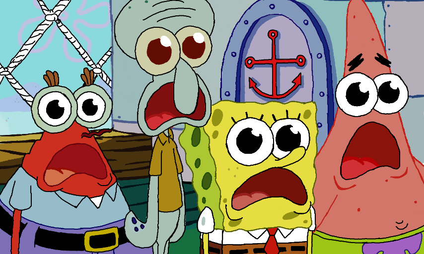 Colors Live - Spongebob, Patrick, Squidward, and Mr.Krabs ...