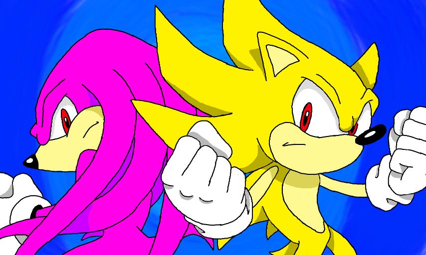 Super Sonic vs Hyper Knuckles