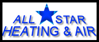 Website for All Star Heating & Air Conditioning & Appliance