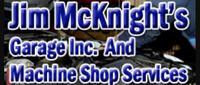 Website for Jim McKnights Garage, Inc