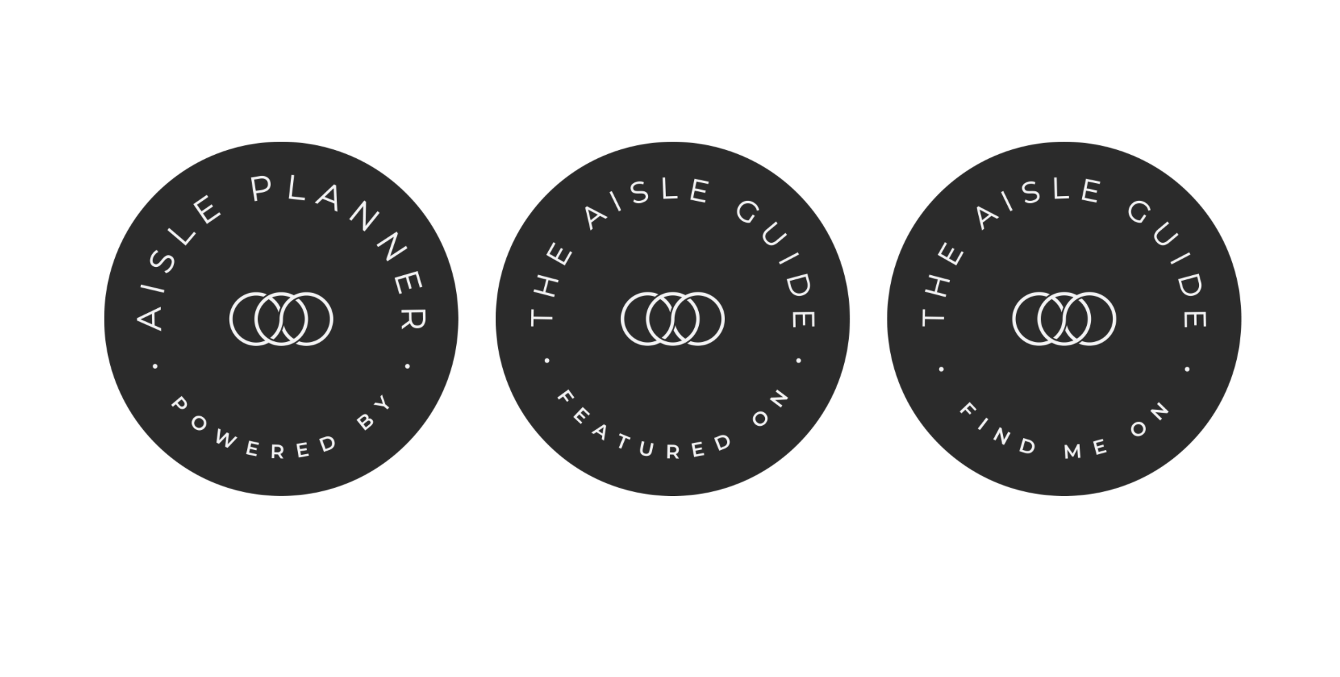 The Aisle Guide Badges