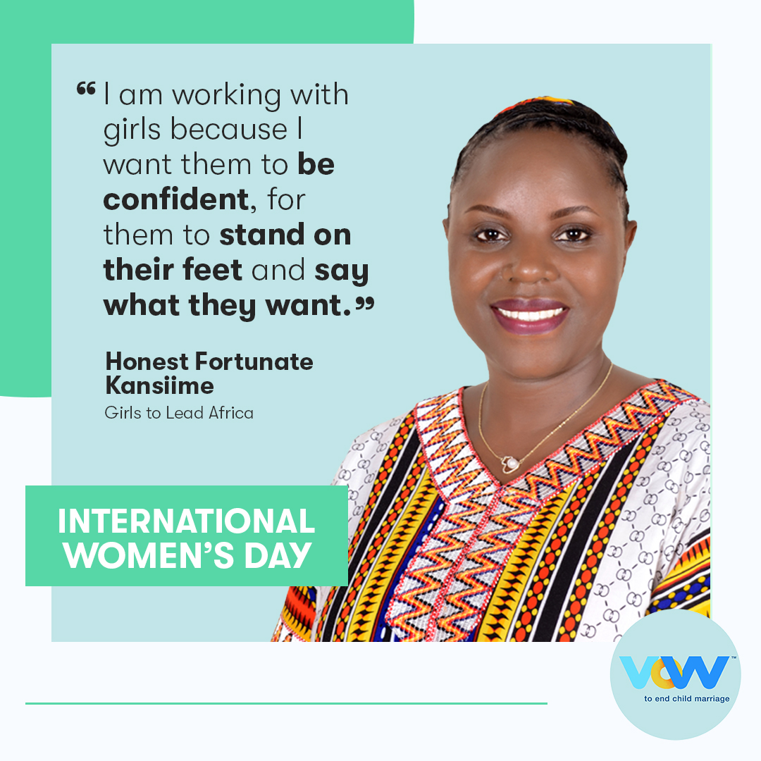 quotation and photo of Honest Fortunate Kansiime, Founder and Director of Girls to Lead Africa
