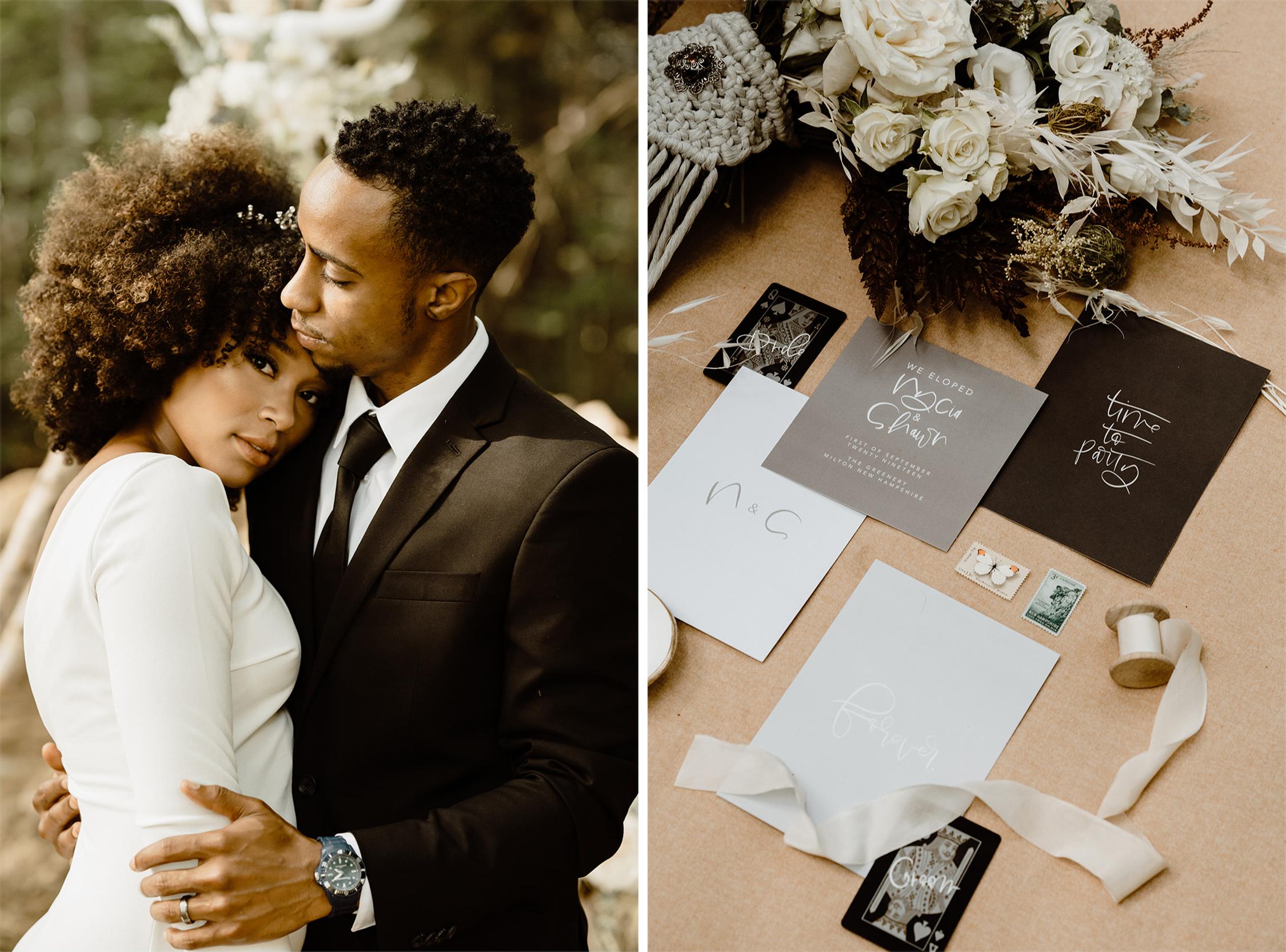 Black and White Wedding Inspo