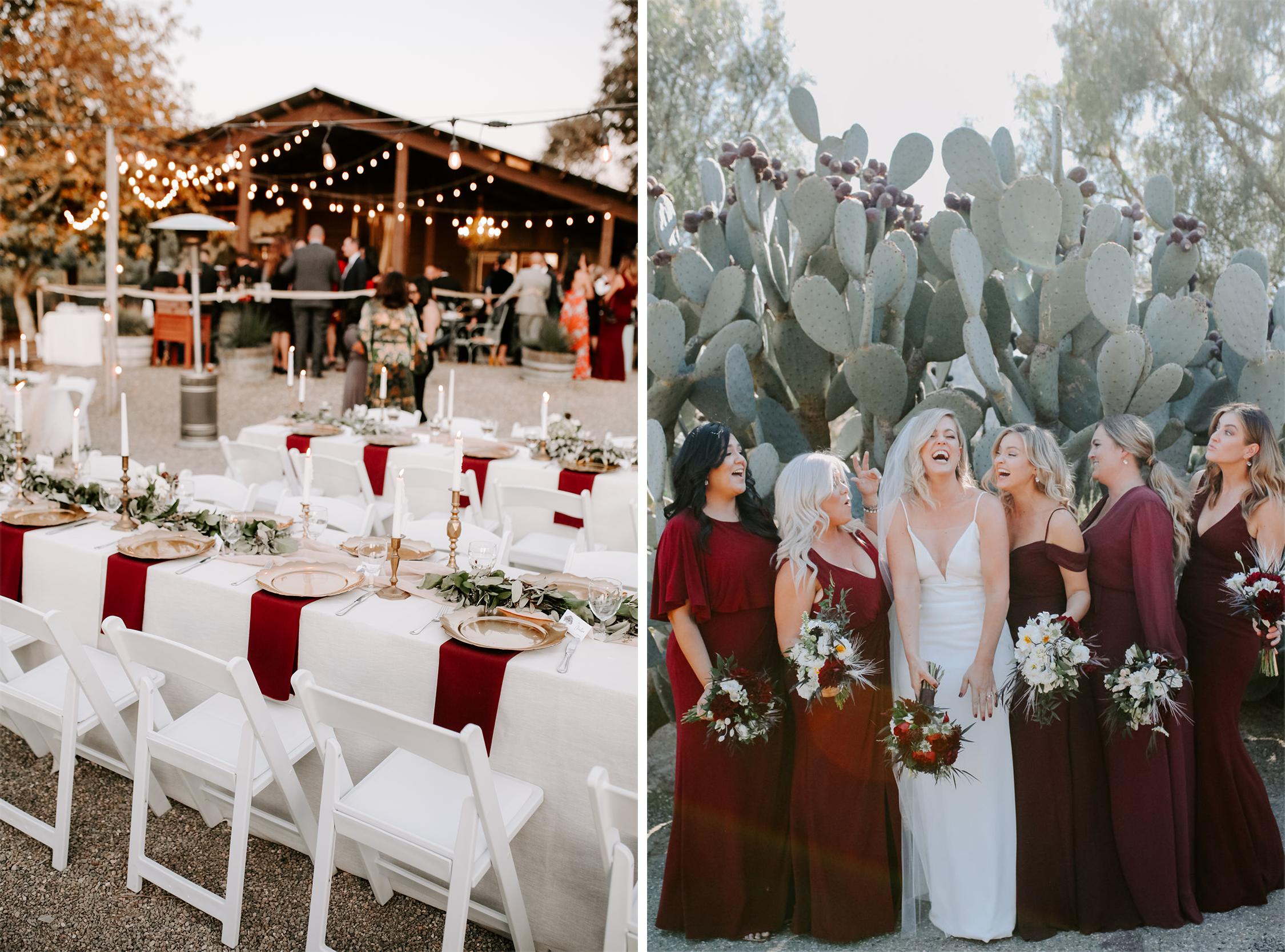 Red Wedding Inspo in the Desert