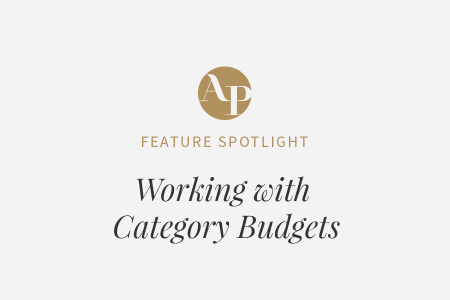 Building a Budget in Aisle Planner with Category Budgets Enabled