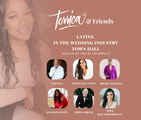 Photo Advertising LatinX in the Wedding Industry Town Hall with Images of 6 Speakers