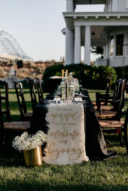 Reception Table & Wedding Signage