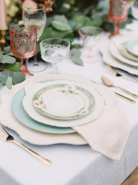Tablescape Blue