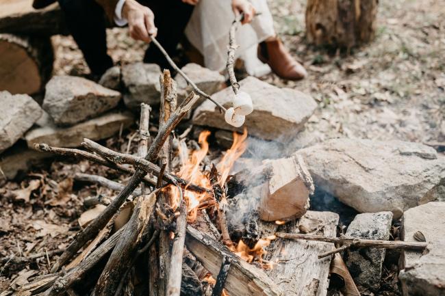 Roasting Marshmallows Over Fire