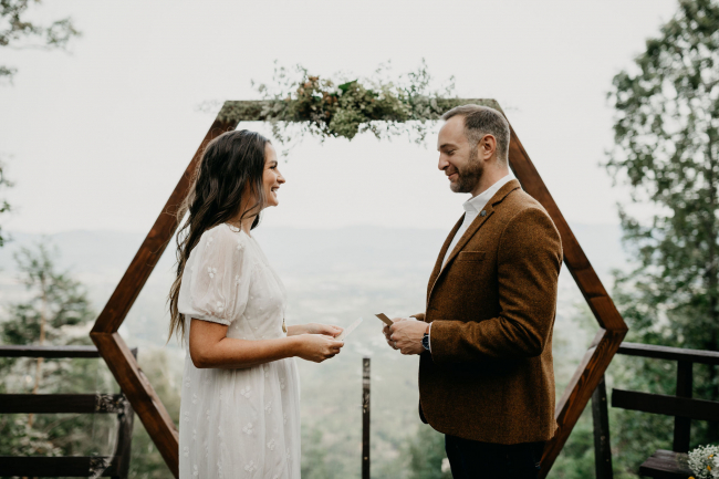 Couple Reading Vows