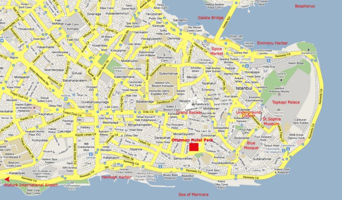 Sultanahmet Area, Istanbul, Turkey - Avenza Systems Inc. - Avenza Maps